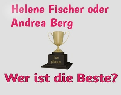 Helene Fischer oder Andrea Berg Facebook Vorschau