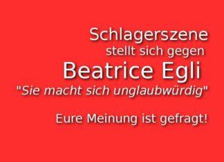 Schlagerszene gegen Beatrice Egli