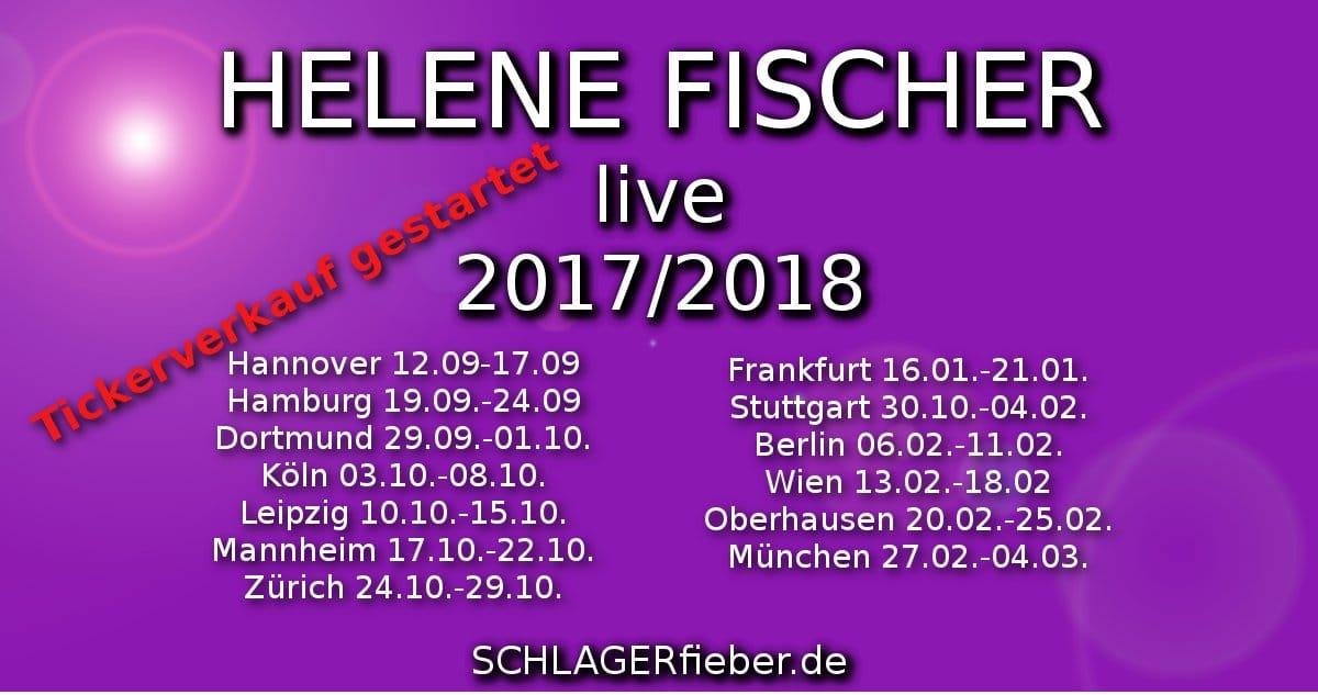 Tournee 20172018 Leipzig Liebt Helene Fischer Schlagerfieberde