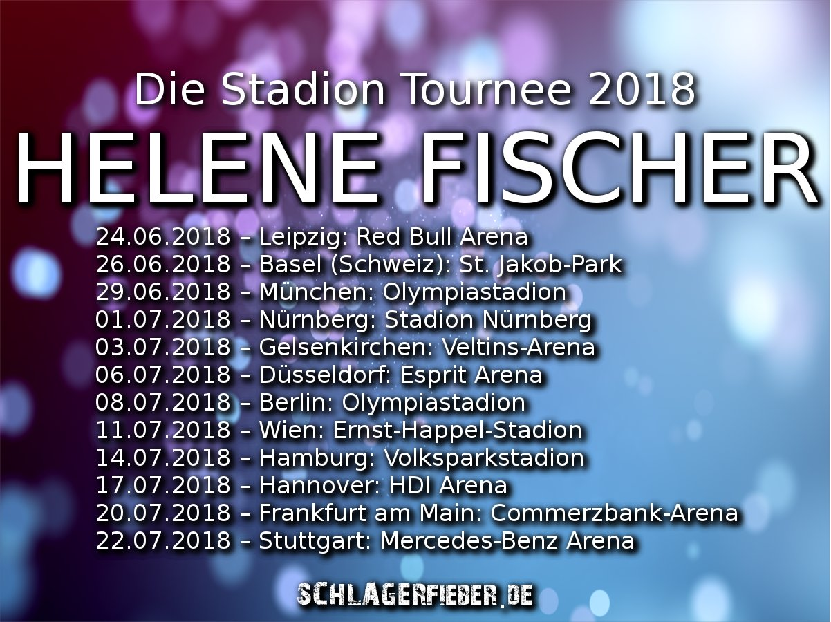 helene fischer stadion tournee 2018 termine. Black Bedroom Furniture Sets. Home Design Ideas