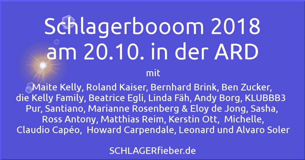 schlagerbooom am 20.10. in der ARD mit Florian Silbereisen