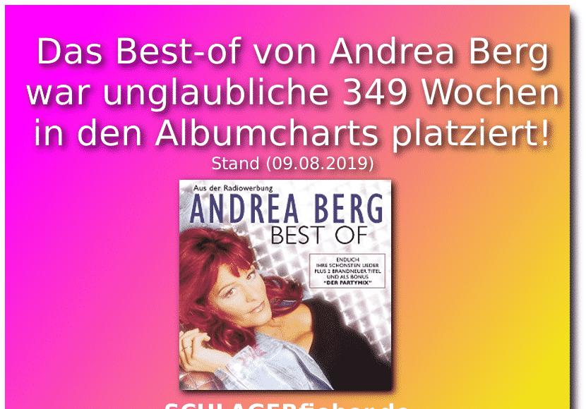 Andrea Berg best-of rekord schlagerfieber