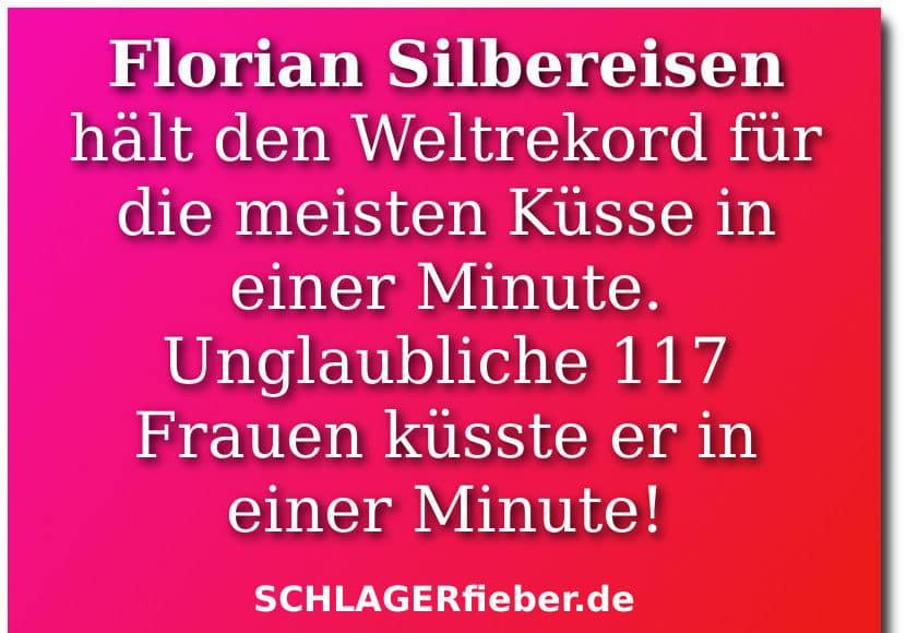 Florian Silbereisen Kussrekord Bild Spruch