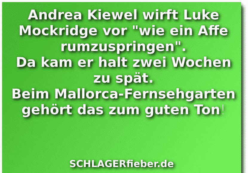 Luke Mockridge Fernsehgarten Andrea Kiewel