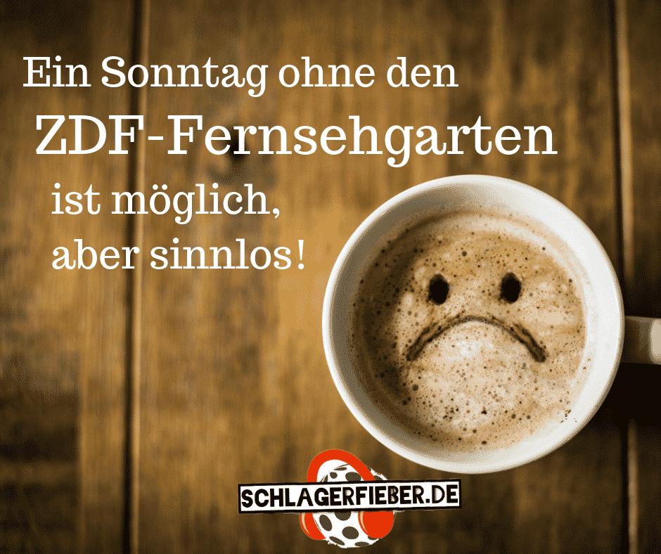 ZDF Fernsehgarten traurig